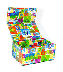 Colorful open gift box