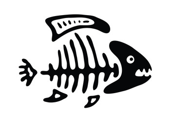 fish bone, vector illustration