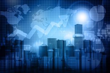 Business progress of skyline citys