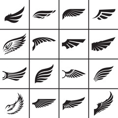 Wings design elements vector illustration