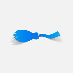 realistic design element: broom