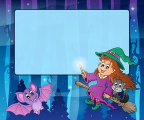 Mysterious forest Halloween frame 1