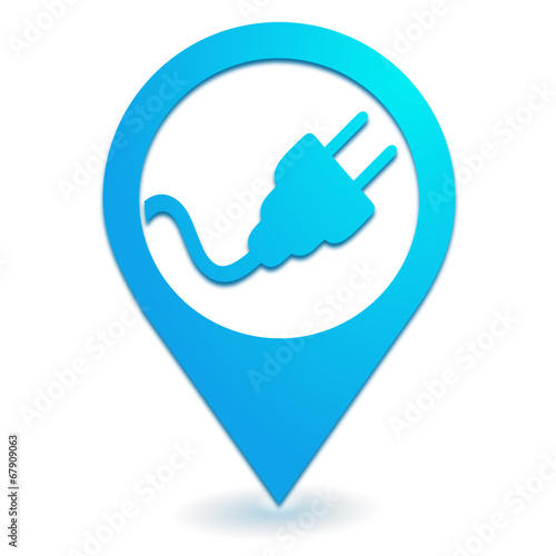 prise lectrique sur symbole localisation bleu fichier vectoriel libre de droits sur la banque. Black Bedroom Furniture Sets. Home Design Ideas