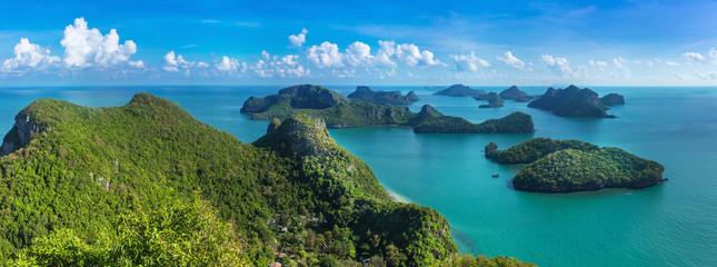 Tuinposter Eiland Bird eye view of Sea Thailand, Mu Ko Ang Thong island National P