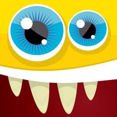Vector Cartoon orange monster face