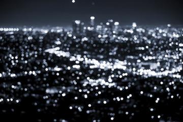 Bokeh lights from a modern city