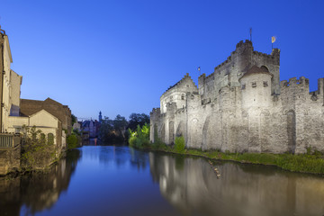 Fotomurales - Gravensteen castle, Ghent, Belgium