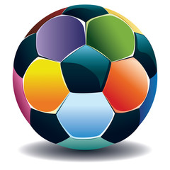 Colorful Soccer Ball