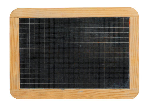 Small school blackboard slate ruled with squares