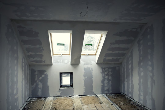 Renovated room in the attic