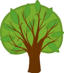 Cartoon Tree. Isolated