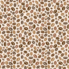 Coffee grains seamless pattern