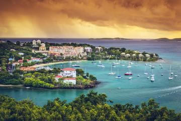 Poster Caraïben St. John, US Virgin Island at Cruz Bay