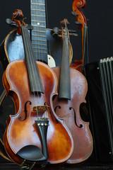 violin guitar and accordion still life 2