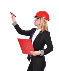 woman engineer with clipboard