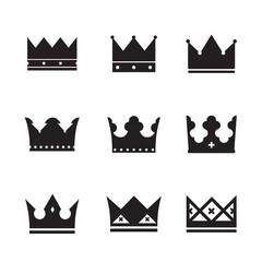 vector black crowns