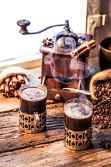 Fototapete - Smell of freshly brewed coffee