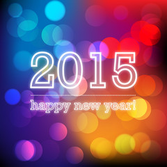 happy new year 2015 wektor