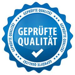 Geprüfte Qualität - blau