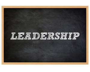 LEADERSHIP - handwritten concept chalkboard