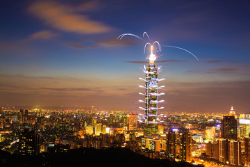 Taipei101 firework show
