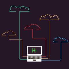 Creative cloud computing concept