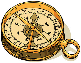 marine theme, compass