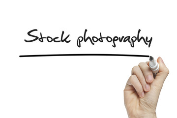 Hand writing stock photography