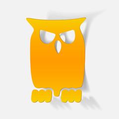 realistic design element: owl
