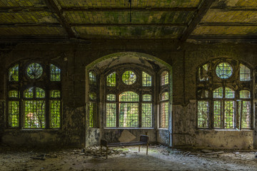 Canvas Prints Old Hospital Beelitz Beelitz Heilstätten