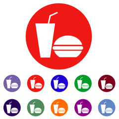 Fast Food. Vector Illustration