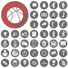 Basketball icons set. Illustration eps10
