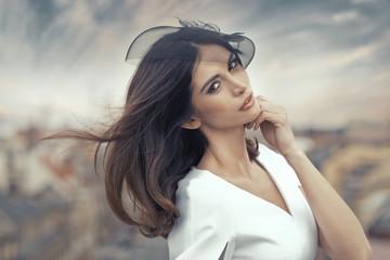 Fine portrait of the attractive smart woman