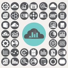 Data Analytics icons set. Illustration eps10
