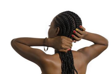 Beautiful African Woman Rear View