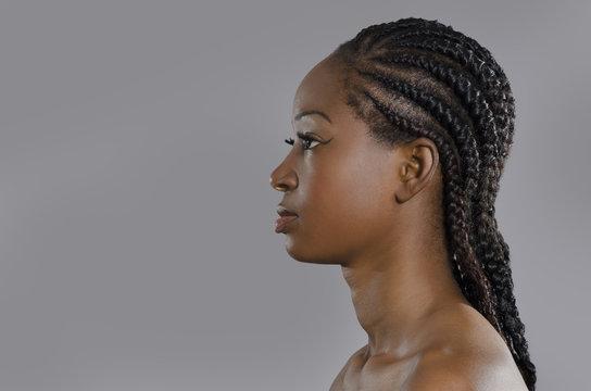 Beautiful African Woman Profile
