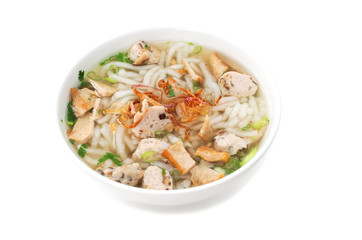 Banh Canh, Vietnamese traditional soup with big rice noodles