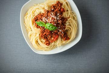 Bowl of delcious spaghetti pasta