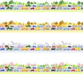 交通渋滞 季節