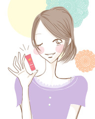 美容を教える女性/元気