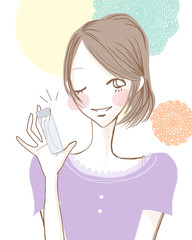 おすすめスキンケア/元気な女性