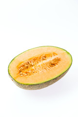 Melon isolated on white
