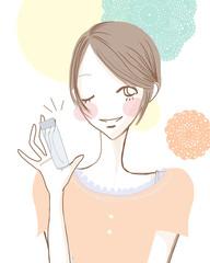 おすすめスキンケア/爽やかな女性