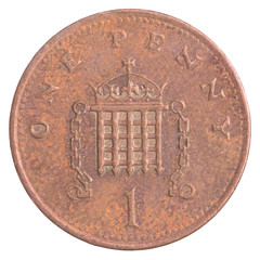one british penny coin