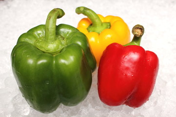 Wall Mural - red, green and yellow colored bell pepper