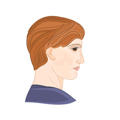 Young man portrait vector illustration