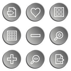 Image viewer web icon set 1, grey stickers set