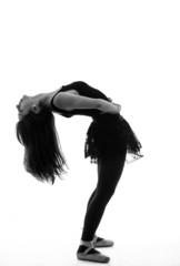 Silhouette of beautiful female ballet dancer