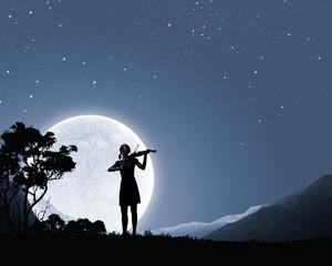 Woman violinist