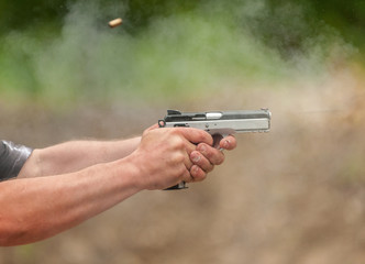 Catch a Bullet. Outdoor Shooting Range